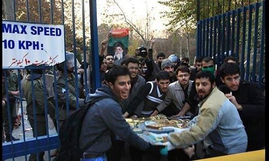 اقتحام عناصر الباسيج للسفارة البريطانية في طهران
