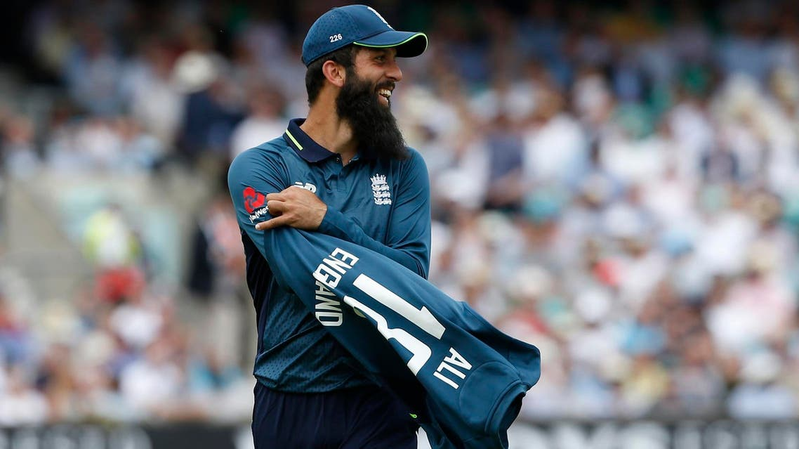 Moeen Ali during the first One Day International cricket match between England and Australia at the Oval cricket ground in London on June 13, 2018. (AFP)