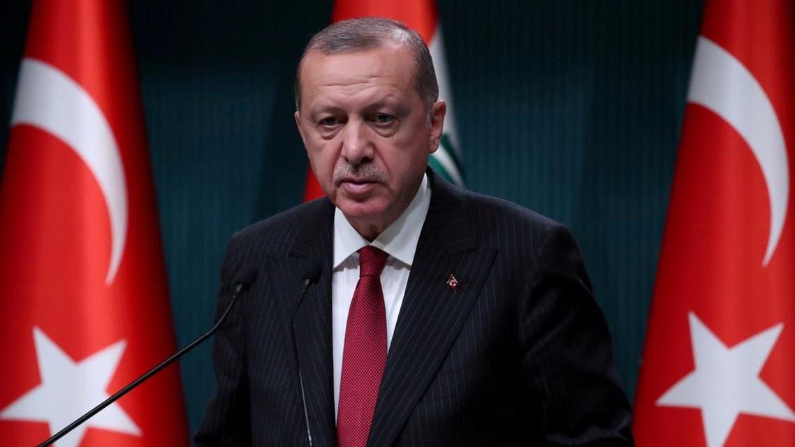 Turkish President Tayyip Erdogan attends a news conference in Ankara, Turkey, August 14, 2018. REUTERS