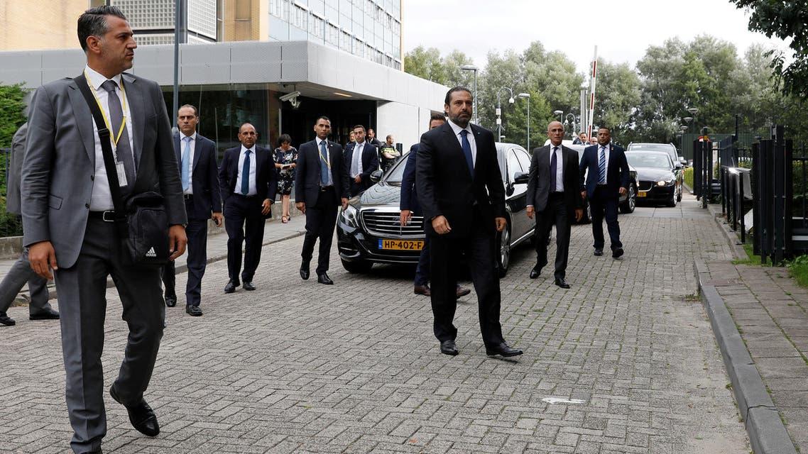 رئيس الوزراء اللبناني المكلف سعد الحريري أمام المحكمة الخاصة بلبنان في لاهاي