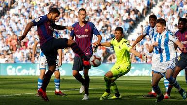 سواريز وديمبلي ينقذان برشلونة من مدربه والملعب المنحوس
