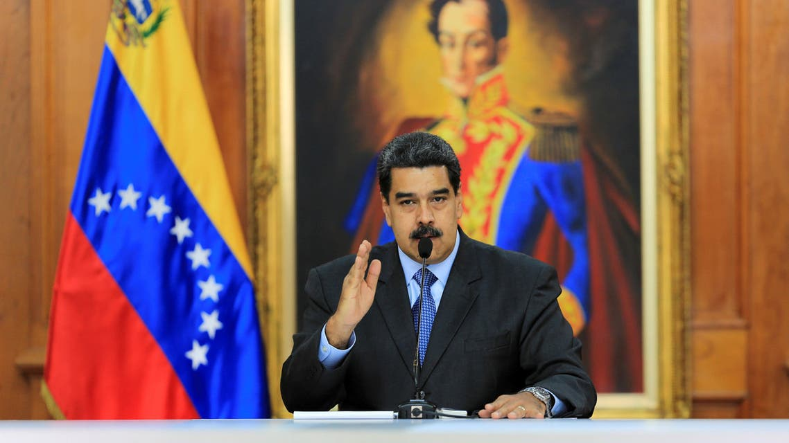 FILE PHOTO: Venezuela's President Nicolas Maduro speaks during a meeting with government officials at the Miraflores Palace in Caracas, Venezuela August 7, 2018. Miraflores Palace/Handout via REUTERS/File Photo