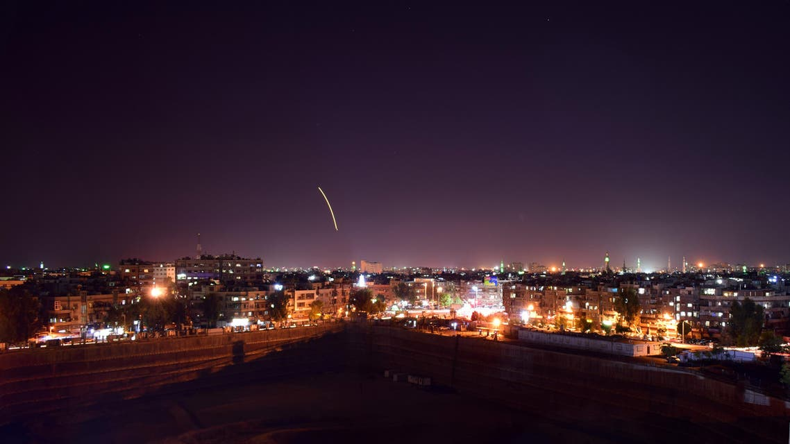 A handout picture released by the official Syrian Arab News Agency (SANA) on September 15, 2018, reportedly shows Syrian air defence batteries responding to what the Syrian state media said were Israeli missiles targeting Damascus international airport. An Israeli missile attack targeted the Syrian capital's airport today, activating air defences which shot down a number of the projectiles, state news agency SANA reported.