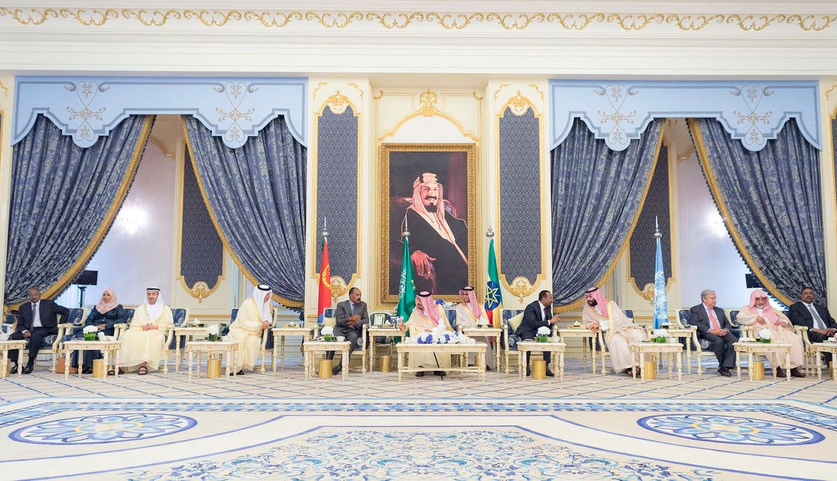IN PICTURES: Historic Ethiopia-Eritrea peace accord signed in Jeddah 7