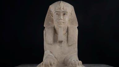 """اكتشاف تمثال جديد لـ""""أبو الهول"""" في أسوان جنوب مصر"""