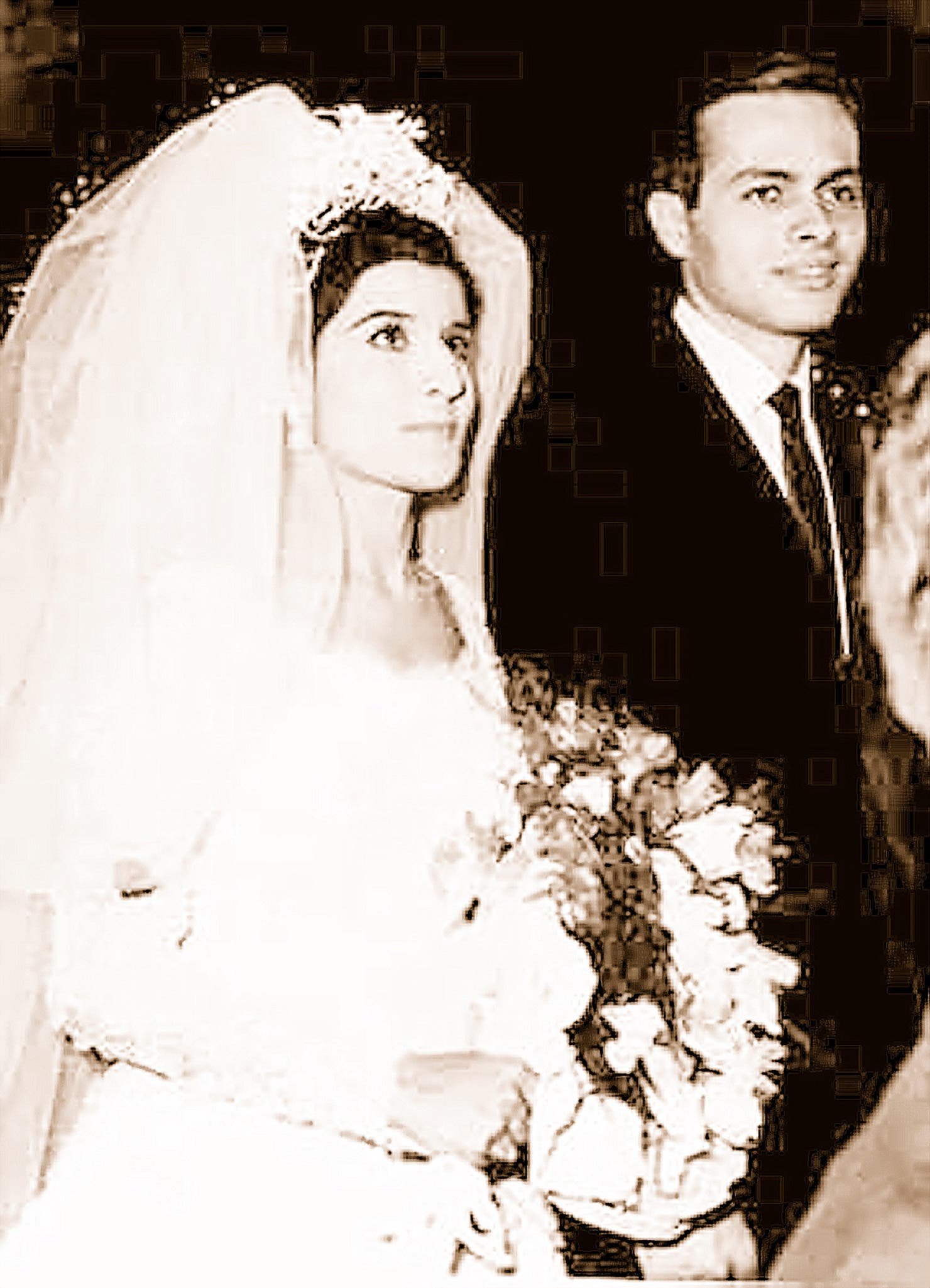 Ashraf Marwan and Mona Abdel Nasser. (AFP)