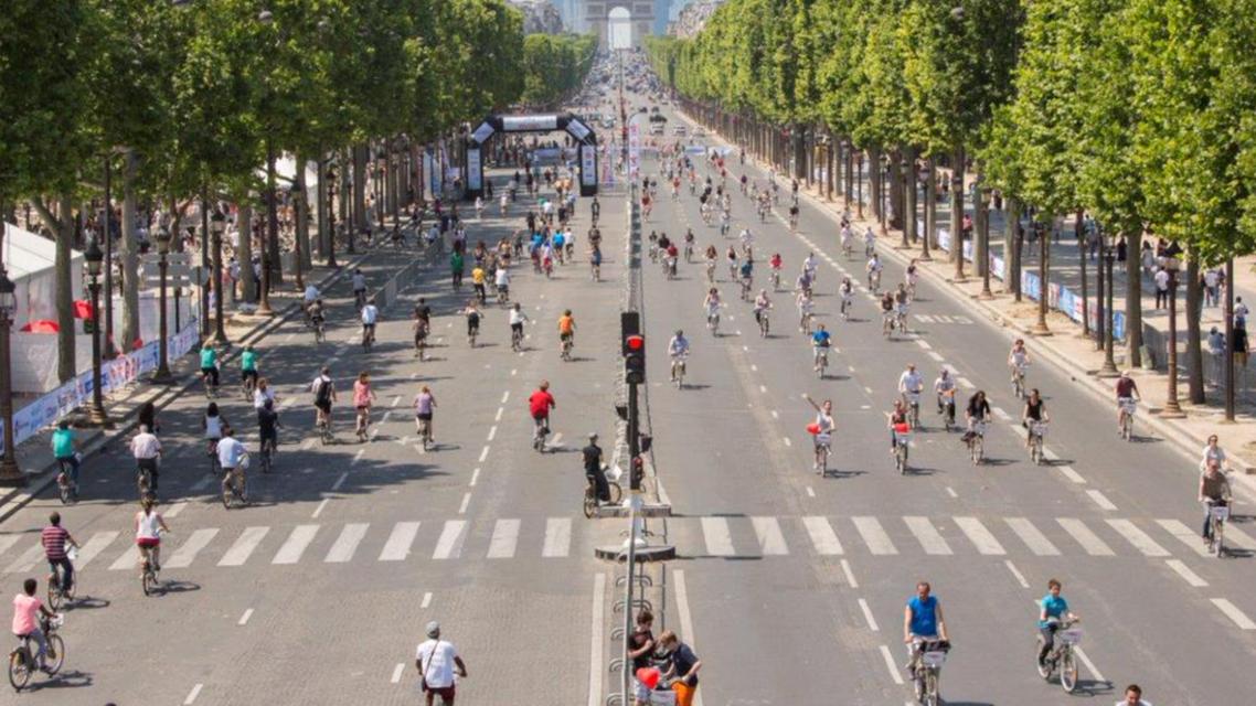شوارع باريس بلا سيارات