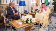 شاہ سلمان بن عبدالعزیز کی اقوام متحدہ کے سیکریٹری جنرل سے ملاقات