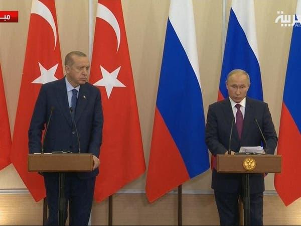 بوتين: اتفقت مع أردوغان على ضرورة بقاء سوريا موحدة