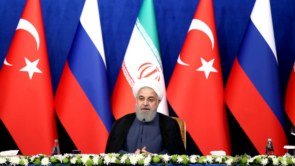 President Hassan Rouhani speaks at a press conference in Tehran on Sept. 7, 2018. (AP)