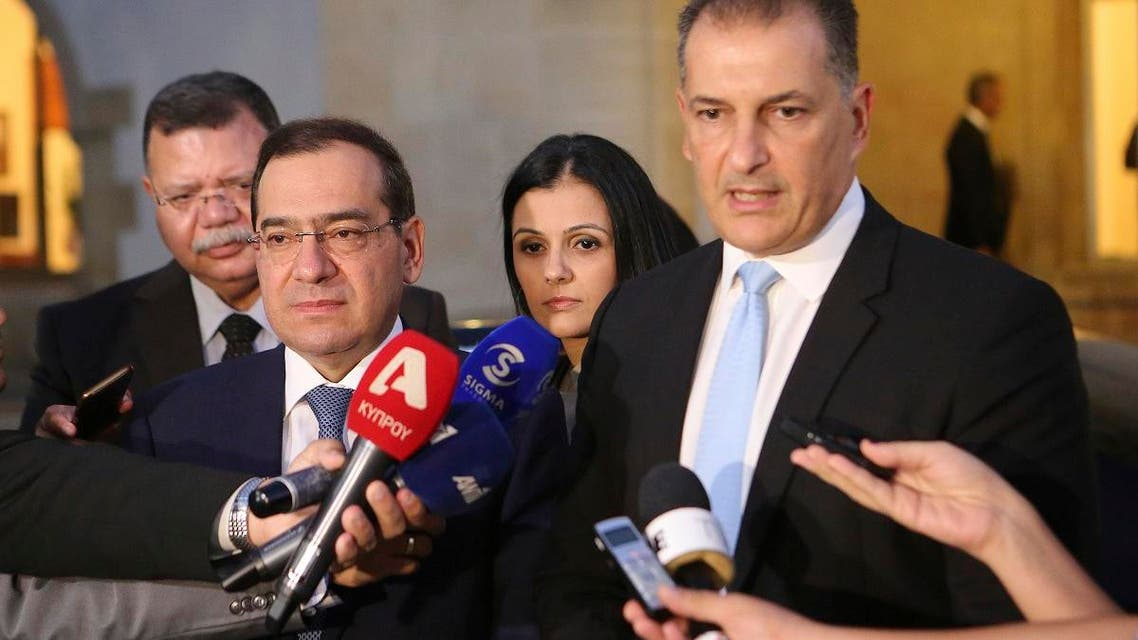 Egypt and Cyprus oil ministers. (AP)