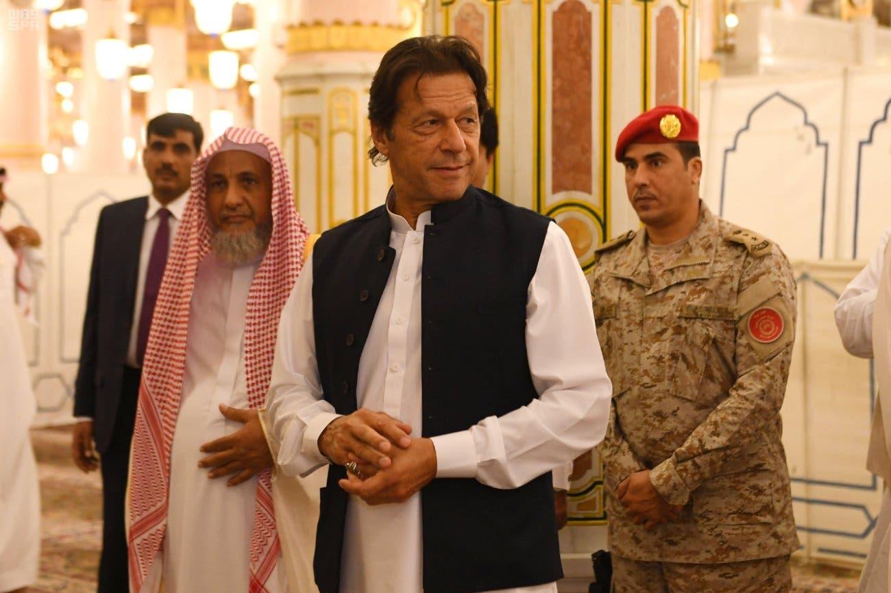 Pakistan PM Imran Khan arrives in Saudi Arabia's Medina