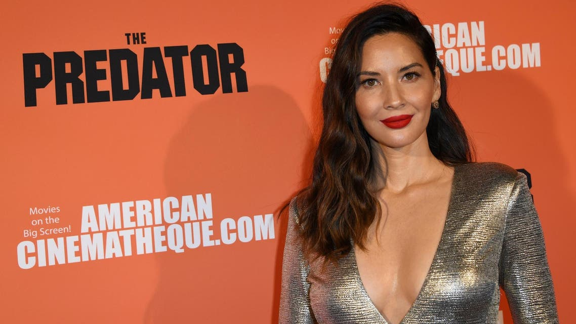 Olivia Munn at a special screening of The Predator at the Egyptian Theatre in Hollywood on September 12, 2018. (AFP)