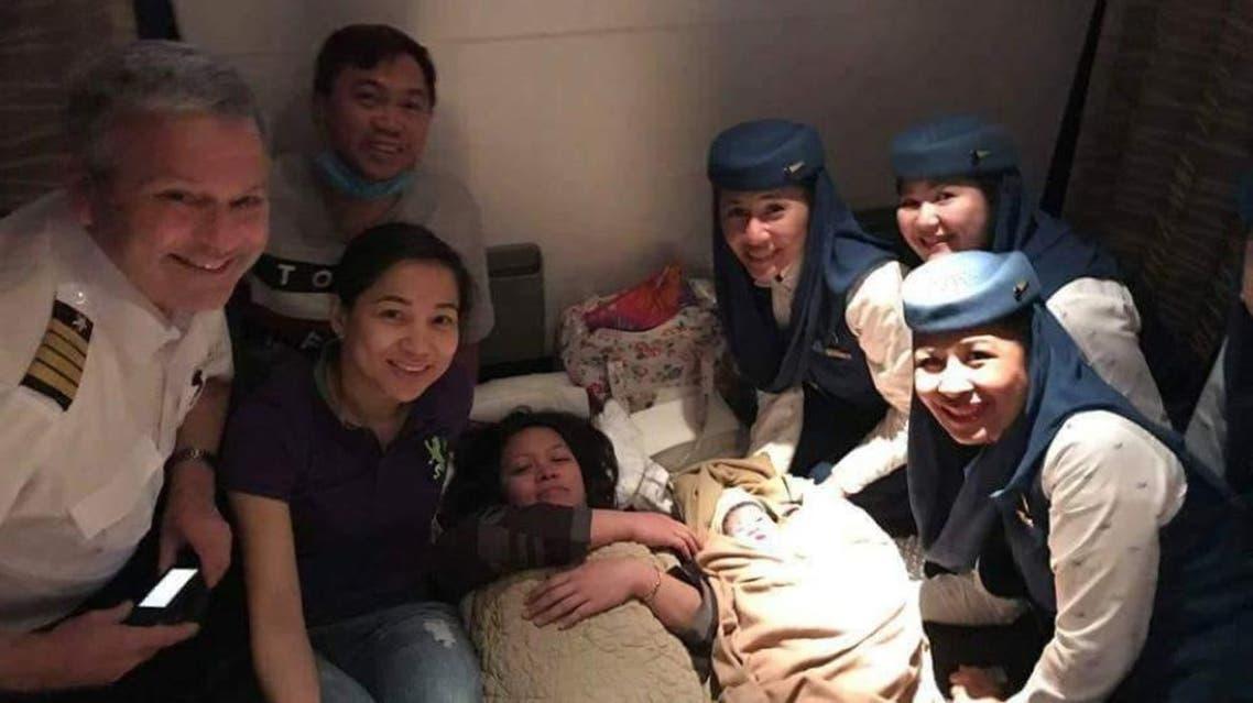 baby born on saudia flight (Saudi Gazette)