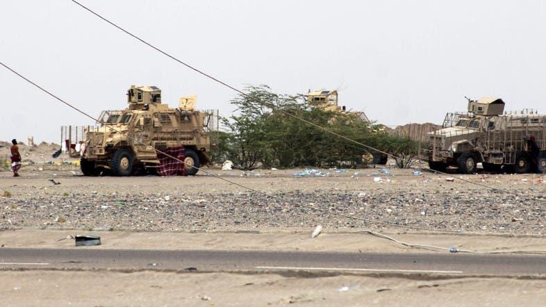 آليات عسكرية تابعة للجيش اليمني
