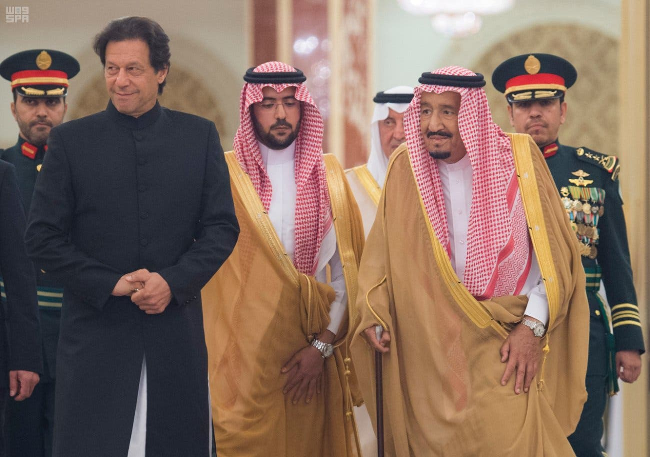 IN PICTURES: Saudi King Salman receives Pakistani Prime Minister Imran Khan