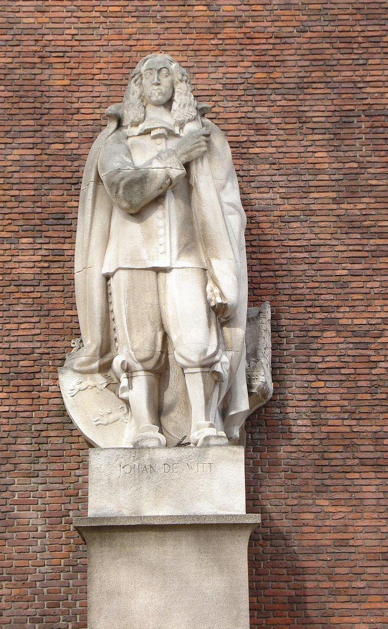 مجسمه یوهان دی ویت در شهر روتردام