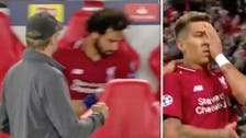 What was Mo Salah doing? Watch his confusing reaction to Firmino's goal