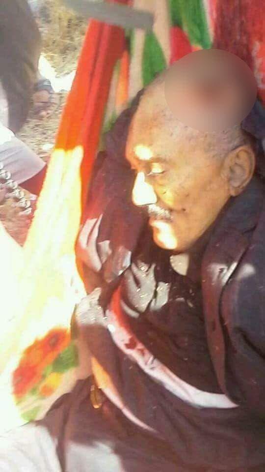 عکسی که حوثیها از علی عبدالله صالح پس از کشته شدنش منتشر کردند