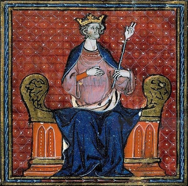 رسم تخيلي للملك الفرنسي أوغو كابييه مؤسس سلالة الكابتيين