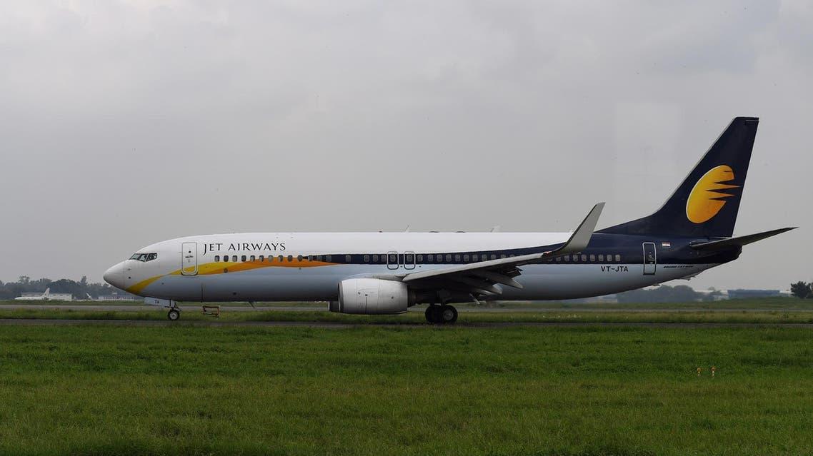A Jet Airways plane at Indira Gandhi International Airport in New Delhi on September 10, 2018. (File photo: AFP)