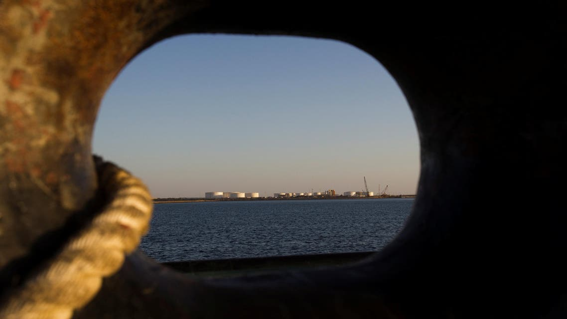 An oil dock seen from a ship at the port of Kalantari in Chabahar on January 17, 2012. (Reuters)