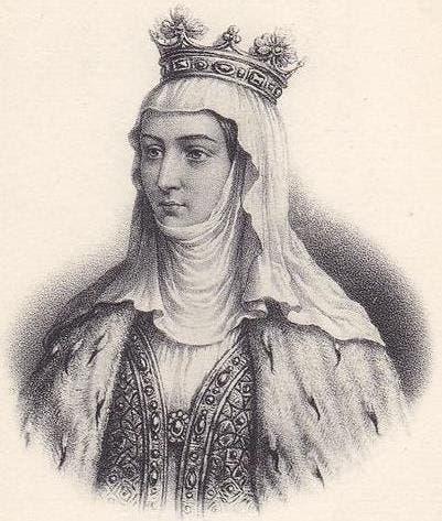 رسم تخيلي للملكة الفرنسية مارغريت دي بورغندي
