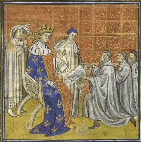رسم تخيلي للملك الفرنسي لويس العاشر