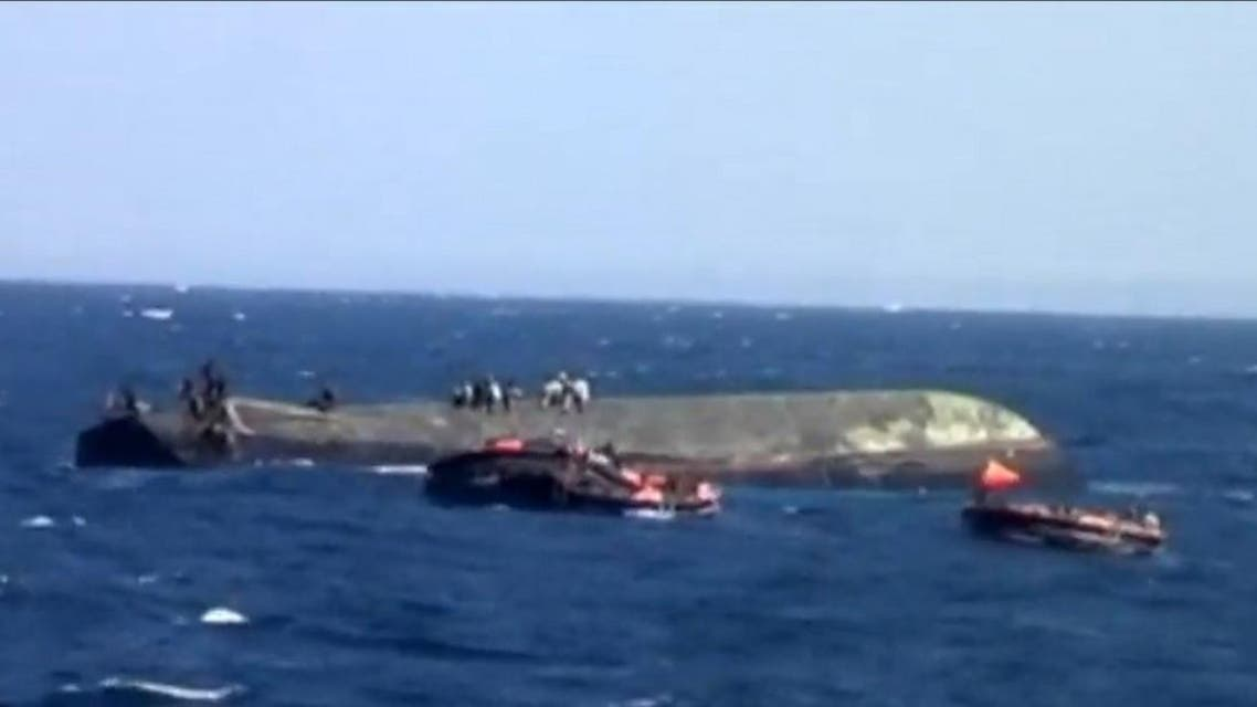 File photo of a ferry capsize off the coast of Zanzibar, Tanzania. (Screen grab: Reuters)