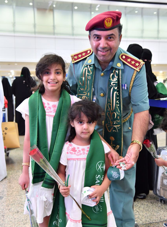 UAE celebrating Saudi national day at dubai airport. (GDRFA via Twitter)
