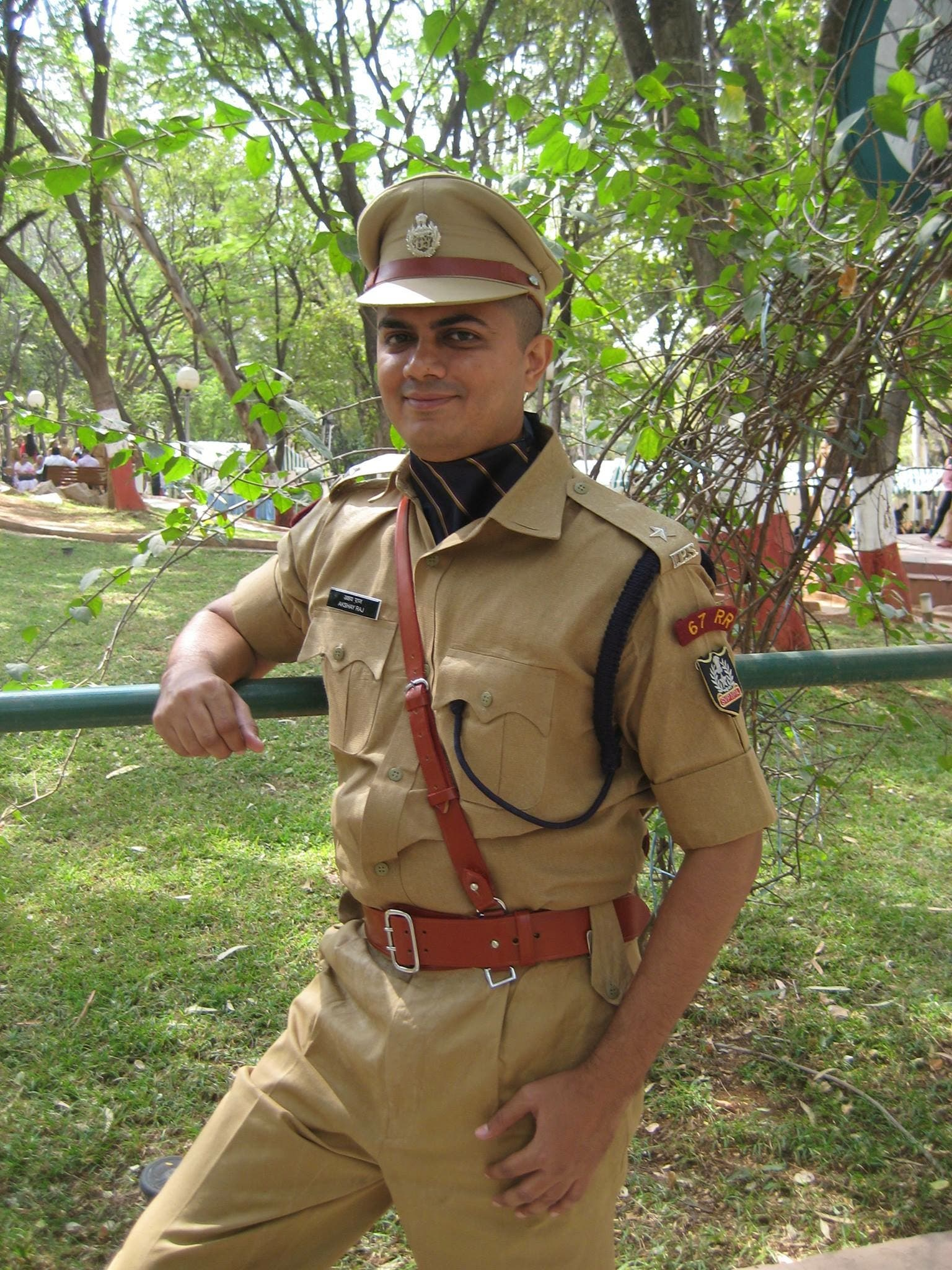 Police officer Akshayraj claims that police crackdown has had a salutary effect. (Supplied)