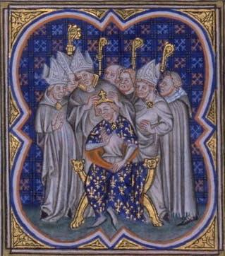 رسم تخيلي لفيليب الخامس أثناء تعيينه ملكا