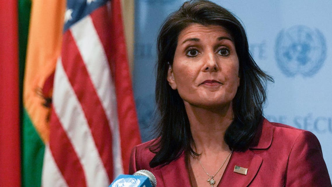 U.S. Ambassador to the United Nations Nikki Haley speaks during a news conference at U.N. headquarters in Manhattan, New York, U.S., September 20, 2018. REUTERS/Jeenah Moon