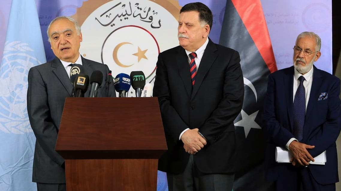 Libya's UN-backed Prime Minister Fayez al-Sarra (AFP)