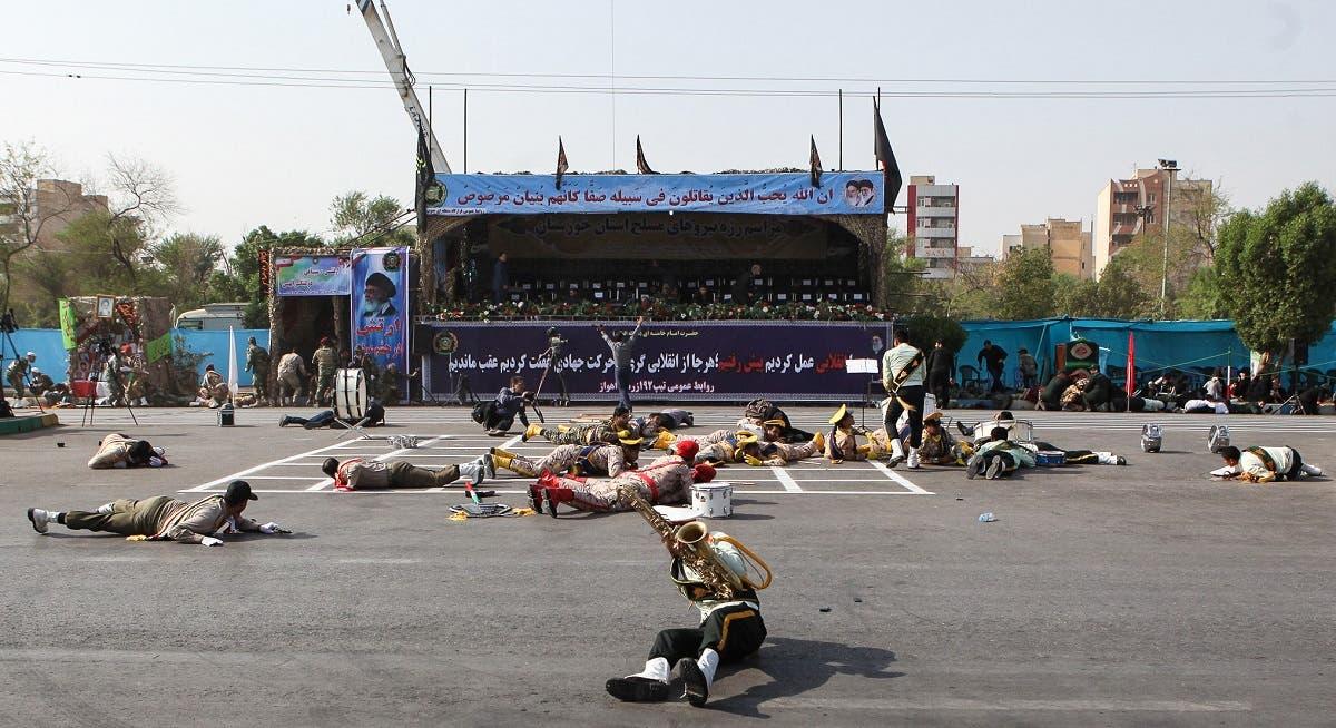 Iran military parade attackin Ahwaz (AFP)