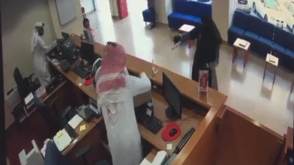 Kuwait bank robbery. (Screengrab)