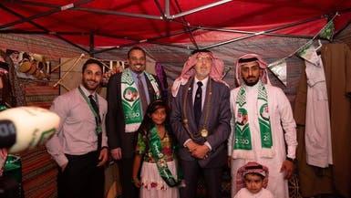 لماذا ارتدى عمدة نيوكاسل الشماغ السعودي باليوم الوطني؟