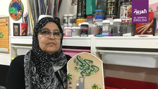 IN PICTURES: Saudi female artist recycles glass into cultural works of art
