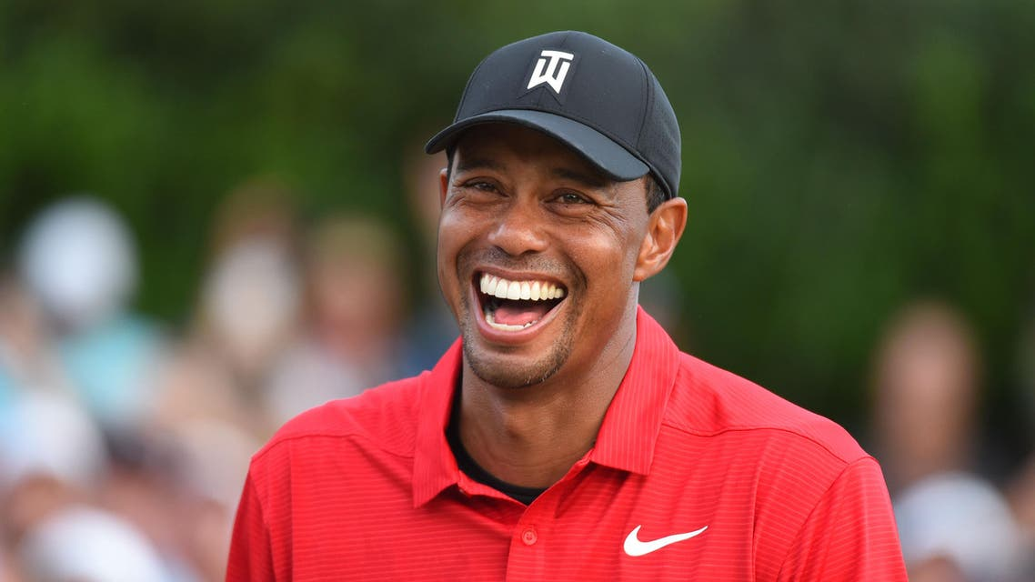 Woods reacts after winning the Tour Championship golf tournament in Atlanta on Sep 23, 2018. (Reuters)