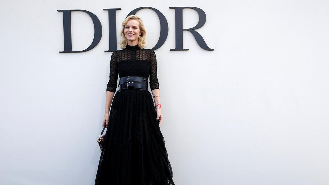 Eva Herzigova during a photocall before the Spring/Summer 2019 women's ready-to-wear collection show for Dior during Paris Fashion Week on September 24, 2018. (Reuters)