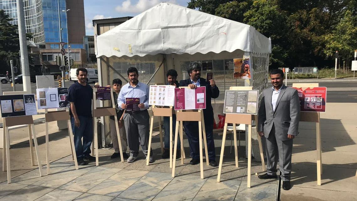 Al-Ghufran's exhibition comes as part of a wider move by the tribe to reclaim its rights on the margins of the 39th session of the UN Human Rights Council. (Supplied)