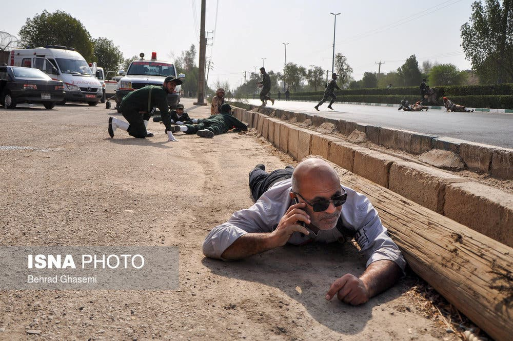 A general view during military parade attack in Ahwaz on September 22, 2018. (ISNA, Reuters)