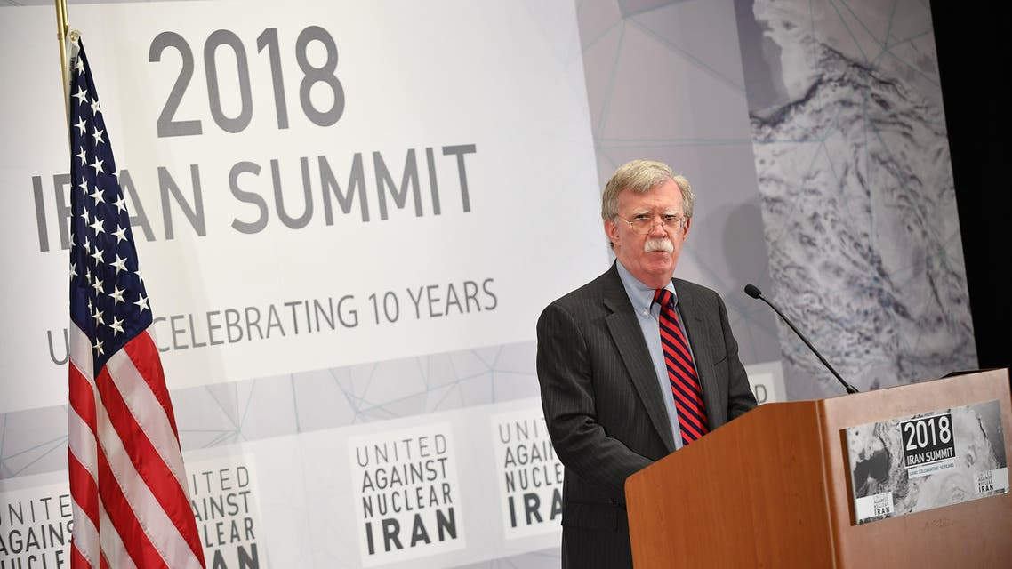 US National Security Advisor John Bolton speaks at the United Against Nuclear Iran Summit in New York on September 25, 2018. MANDEL NGAN / AFP