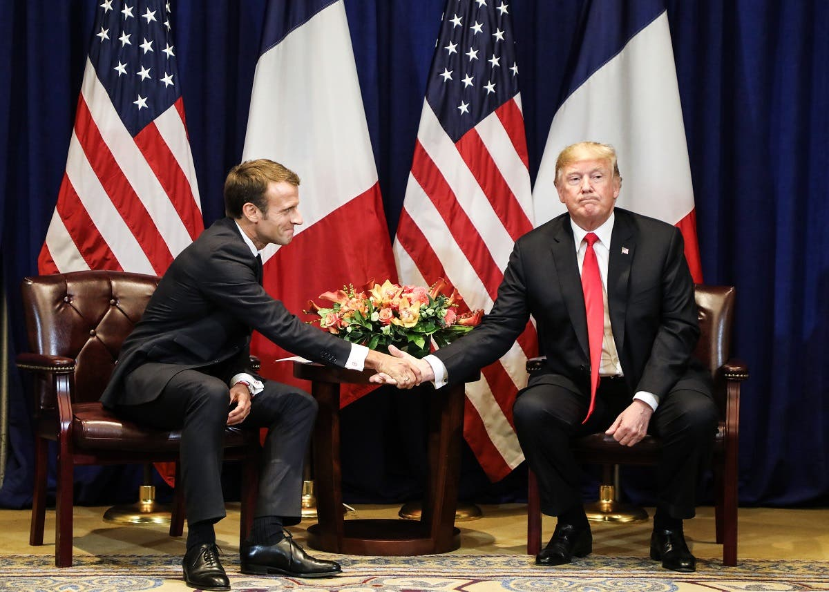 Trump and Macron United Nations (AFP)