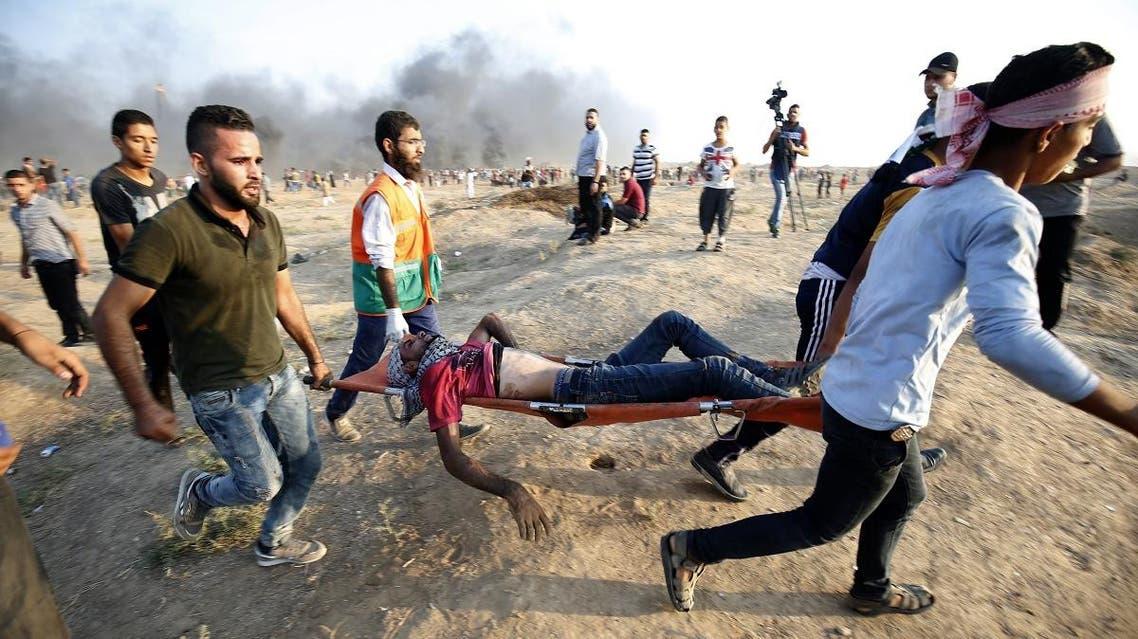 Gaza protest (AFP)