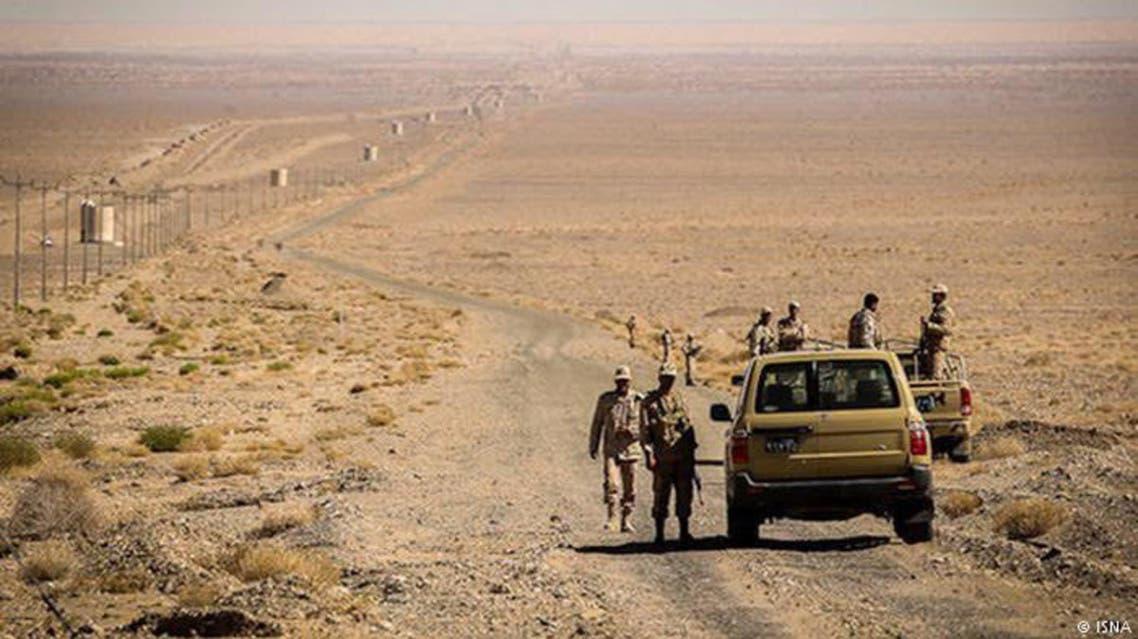 نقطة حدودية بين بلوشستان ايران وبلوشستان باكستان