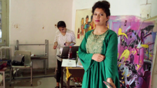 VIDEO: Award-winning Pakistani painter who draws inspiration from corals, colors