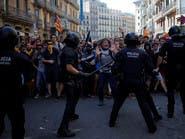 24 جريحاً بمواجهات بين الشرطة وانفصاليين في برشلونة