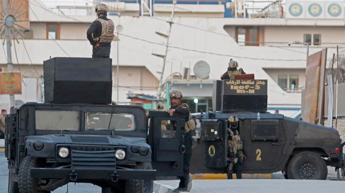 Iraqi special security unit in Basra (AFP)