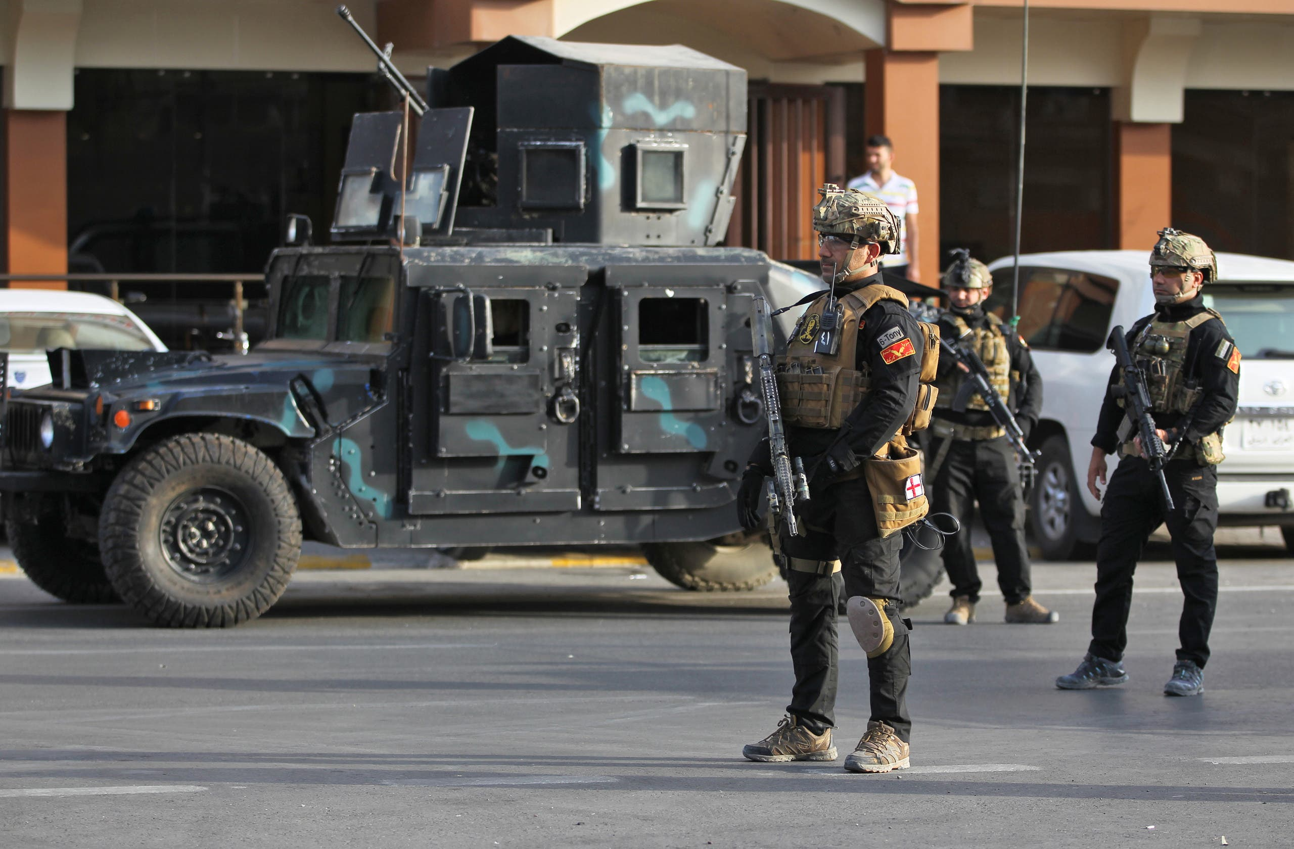 من القوات الأمنية العراقية (فرانس برس)